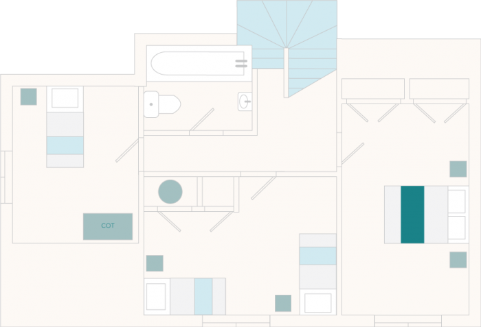 1 Castle Cottage First Floor Plan