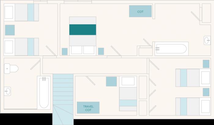 3 Salle Cottage First Floor Plan