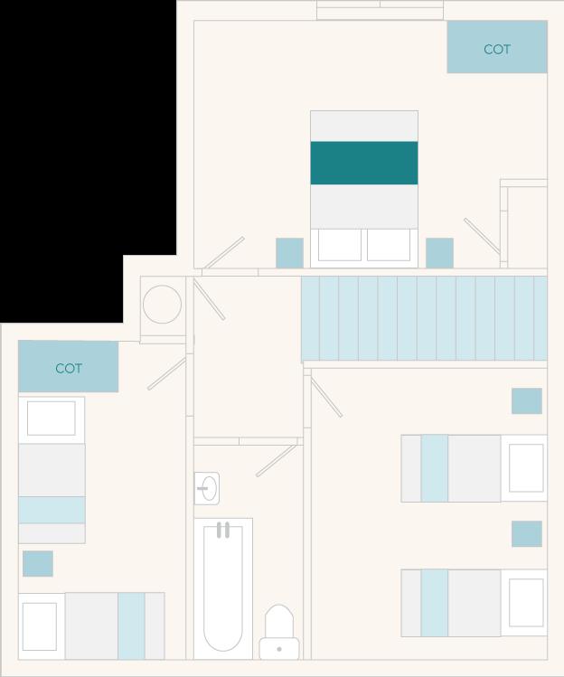 Milbourne Cottage First Floor Plan