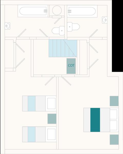 Clock Tower Cottage First Floor Plan